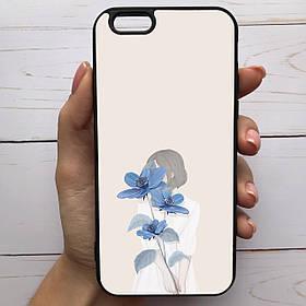 Чохол Mood для iPhone 6/6s з малюнком Дівчина з квіткою SKL68-285349