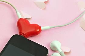 Разветвитель для наушников Сердце SKL32-189568