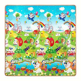 Розвиваючий дитячий килимок двосторонній 4FIZJO Kids 180 x 180 x 1 см SKL41-277896