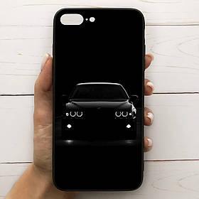 Чехол Mood для iPhone 7 Plus/8 Plus с рисунком Бмв на черном фоне SKL68-288967