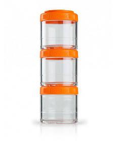 Контейнер спортивный BlenderBottle GoStak 3 Pak Orange Original SKL24-277236