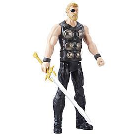 Іграшка Hasbro Тор 30 см, Месники, Війна Нескінченності - Thor, Titan Hero Series, Avengers SKL14-207746