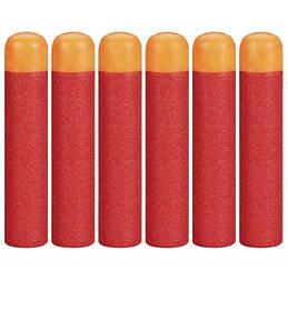 Набір з 6 стріл Мега - м'які кулі для іграшкової зброї Nerf Mega SKL14-138319