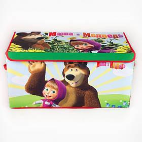 Коробка ящик для зберігання іграшок і дитячих речей Маша і Ведмідь SKL18-254806