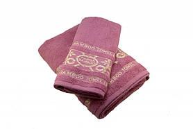 Набір махрових рушників Parisa Бамбук бавовняні 50х90, 70х140 рожевий SKL53-240098
