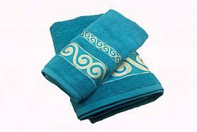 Набір махрових рушників Parisa Касабланка бавовняні 50х90, 70х140 блакитний SKL53-240106
