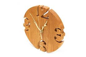 Інтер'єрні годинники настінні дерев'яні дизайнерські Модерн Ручна Робота ТМ Просто і Легко 19на2 см