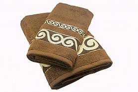 Набір махрових рушників Parisa Касабланка бавовняні 50х90, 70х140 коричневий SKL53-240113