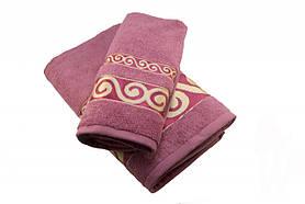 Набір махрових рушників Parisa Касабланка бавовняні 50х90, 70х140 рожевий SKL53-240096