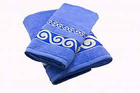 Набір махрових рушників Parisa Касабланка бавовняні 50х90, 70х140 синій SKL53-240110