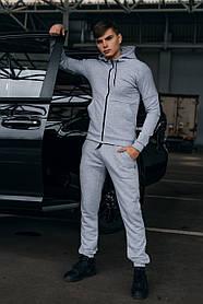 Костюм чоловічий спортивний Cosmo сірий Кофта толстовка і штани плюс Подарунок SKL59-261313