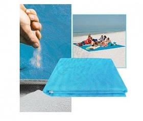 Пляжна підстилка анти-пісок блакитна Sand Leakage Beach Mat SKL11-259294