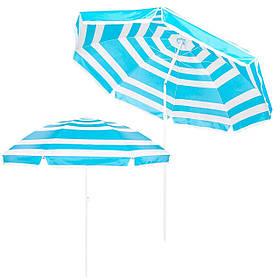 Пляжний парасольку з регульованою висотою та нахилом Springos 220 см BU0011 SKL41-252494