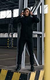 Костюм мужской спортивный Cosmo черный Кофта толстовка и штаны плюс Подарок SKL59-261300