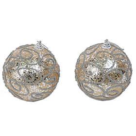 Набор новогодних шаров из 2 штук SKL11-208820