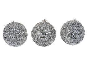 Набір новорічних куль з 3 штук SKL11-208814
