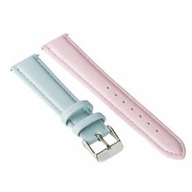 Ремешок для часов Ziz голубо-розовый, серебро SKL22-142919