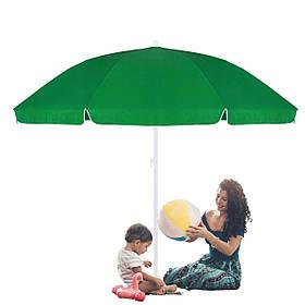 Пляжний садовий парасолька посилений з регульованою висотою Springos зелений 240 см BU0004 SKL41-252495