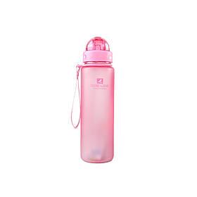 Пляшка для води Casno 400 мл MX-5028 More Love Рожева з соломинкою SKL24-277292