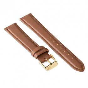 Ремінець для годинника Ziz кавово-шоколадний, золото SKL22-142915