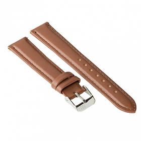 Ремінець для годинника Ziz кавово-шоколадний, срібло SKL22-142891