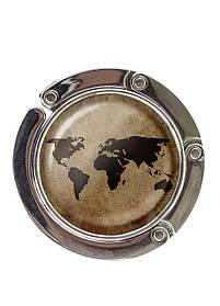 Сумкодержатель DM 01 Карта світу коричневий SKL47-176875