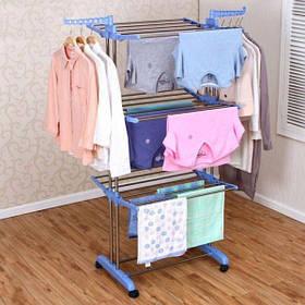 Сушарка для білизни і одягу Three Layers Clothes Rack SKL11-261314