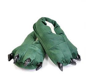 Тапочки кигуруми дитячі зеленого кольору SKL11-277635