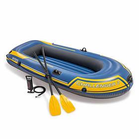Надувний човен Challenger 2 Set, до 200 кг 236Х114Х41 см з веслами і насосом SKL11-249783