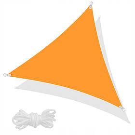 Тент-парус теневой для дома, сада и туризма Springos 3 x 3 x 3 м Orange SKL41-277936