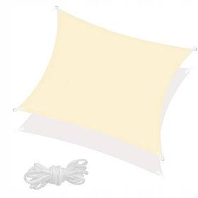 Тент-парус тіньової для дому, саду та туризму Springos 3 x 3 м Light Yellow SKL41-277937