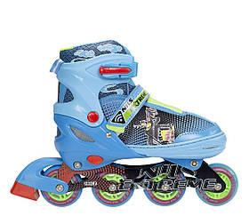 Роликовые коньки Nils Extreme синие Size 38-41 NJ4605A SKL41-227321