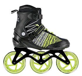 Роликовые коньки Nils Extreme черно-зеленые Size 40 NA1206 SKL41-227576
