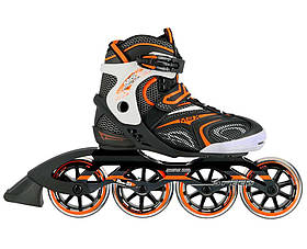 Роликові ковзани Nils Extreme чорні з помаранчевим Size 39 NA1060S SKL41-227567