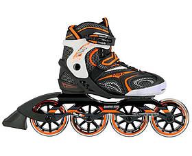 Роликовые коньки Nils Extreme черные с оранжевым Size 39 NA1060S SKL41-227567
