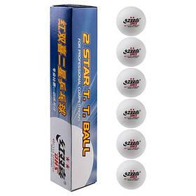 Шарики для настольного тенниса Dhs 2 белые 6 шт SKL11-281931