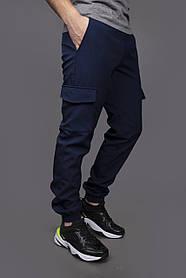 Теплі штани SoftShell сині SKL59-259509