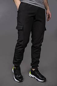 Теплі штани SoftShell чорні SKL59-259510