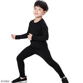 Термобілизна на флісі дитяче чорне SKL11-276539