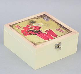 Скринька для чаю Red Flowers SKL11-208430