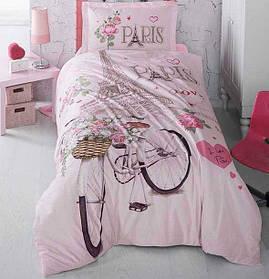 Підліткове постільна білизна Aran Clasy Paris Love 160x220 SKL53-239719
