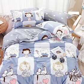 Подростковое постельное белье Viluta Сатин Твил 437 Полуторный SKL53-276728