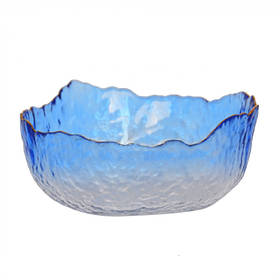Салатник з золотим обідком Blue 20см SKL11-283982