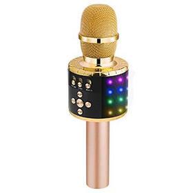 Микрофон для караоке с подсветкой MK2L Gold SKL25-223372