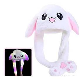 Світна шапка Pikachu toys soft toys with led з рухають вушками біла SKL11-278723