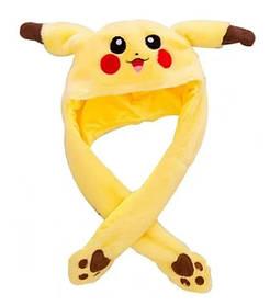 Світна шапка Pikachu toys soft toys with led з рухають вушками жовта SKL11-278721