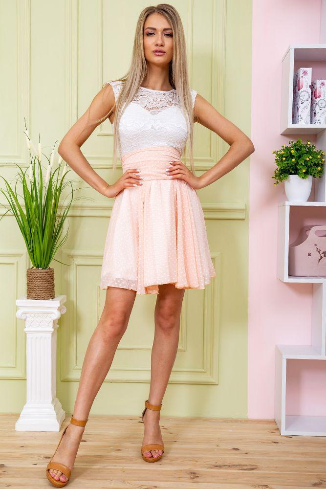 Платье 167R885 цвет Светло-персиковый