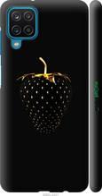 """Чехол на Samsung Galaxy A12 A125F Черная клубника """"3585c-2201-2448"""""""