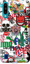 "Чехол на ZTE Blade A7 2020 Many different logos ""4022u-2108-2448"""