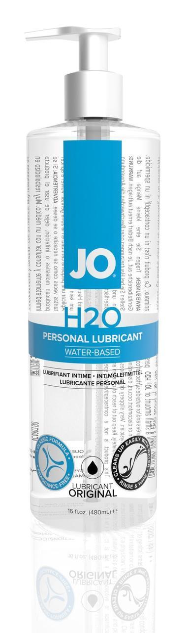Змазка на водній основі System JO H2O ORIGINAL (480 мл) масляниста і гладка, рослинний гліцерин